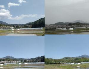 定点から撮影した高専と青葉山