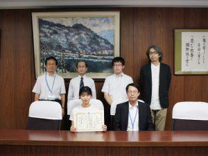本校学生が国立高専機構から表彰されました。