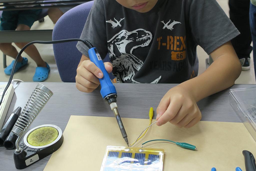 夏休み太陽電池教室