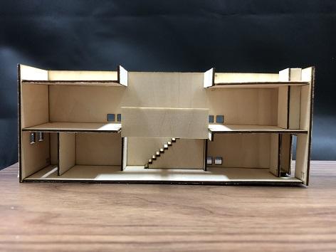 住宅建築模型制作(住吉の長屋)