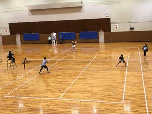 ソフトテニス部が大会に出場しました。[12月13日(日)]