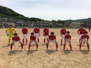 インターハイサッカー競技京都府予選に出場しました。