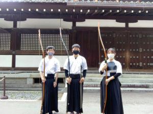 弓道部が全国総体京都府個人1次予選会に参加しました。