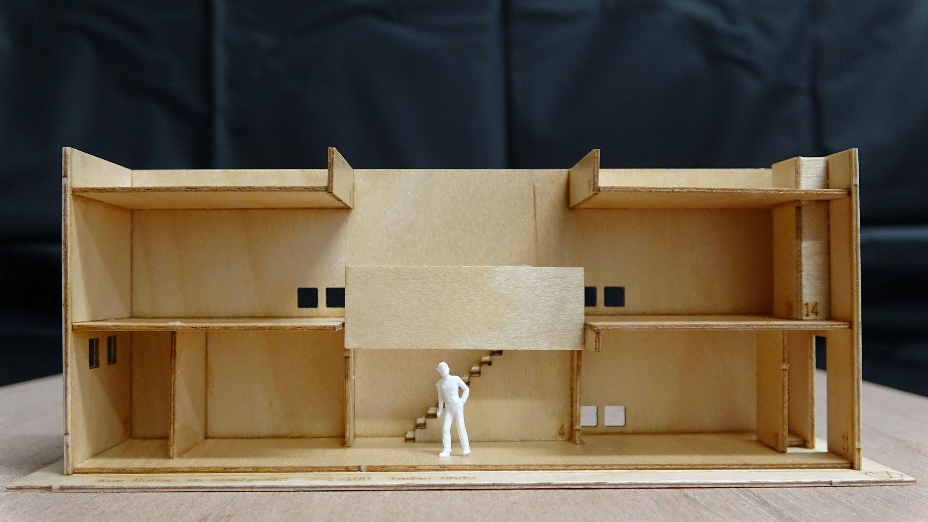 住宅建築模型制作 安藤忠雄 住吉の長屋(追加開催)