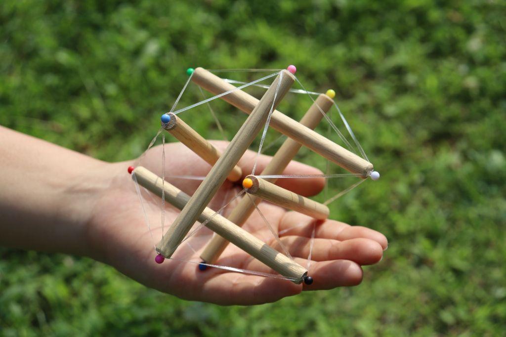テンセグリティ~宙に浮かぶ構造体~を作ろう!