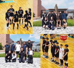 男女バレーボール部が大会に出場しました。
